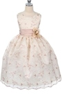 Attractive Ball Gown Ankle-length Round-Neck Flower& Pattern Flower Girl Dress