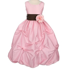 Pretty Ball Gown Floor-length Square Ruched Flower Embellishing Flower Girl Dress