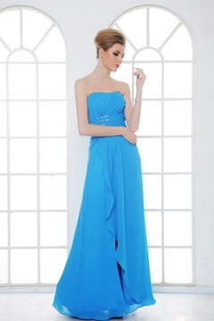 Elegant Split-Front A-Line Sweetheart Neckline Floor-Length Bridesmaid Dress