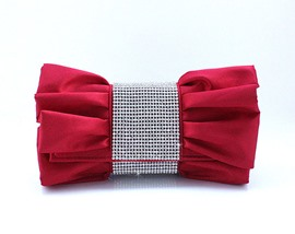 Lovely Red with Rhinestones Evening Handbags/ Clutches