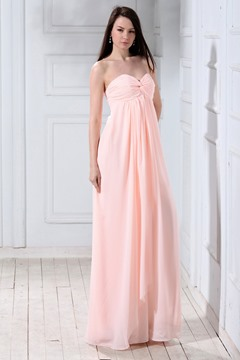 Glamorous A-Line Sweetheart Sleeveless Floor-length Bridesmaid Dress