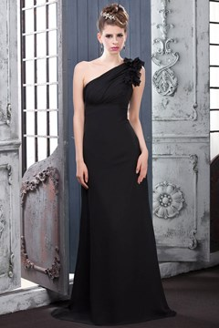 Charming One-Shoulder Sheath/Column Bridesmaid Dress