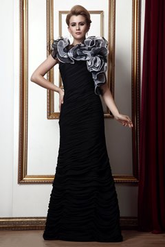 Delicated Cascading Ruffles Mermaid Floor-Length Mother of the Bride Dress