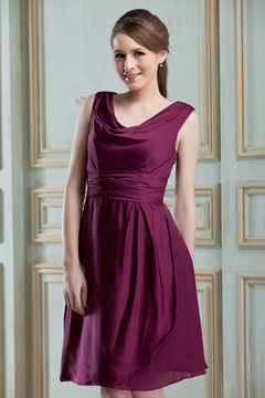 Classy A-Line Scoop Knee-Length Nadya's Bridesmaid Dress