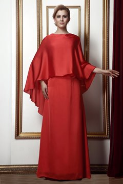Gorgeous Draped Bateau A-line Floor-length Alina's Mother of the Bride Dress