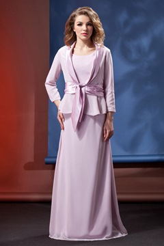 Fantastic Sheath/Column Scoop Neckline Floor-length Daria's Mother of the Bride Dress With Jacket/Shawl