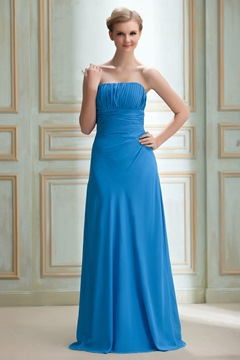 Charming Empire Waist Strapless Floor-length Yana's Prom/Homecoming Dress