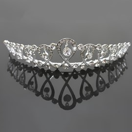 Beautiful Alloy with Cute Rhinestone Wedding Tiaras