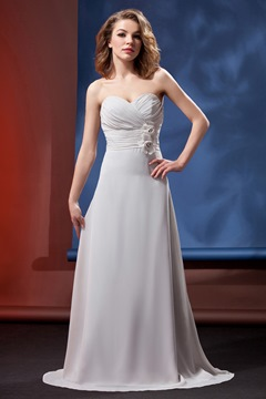 Pretty Flowers Sheath/Column Sweetheart Bridesmaid Dress