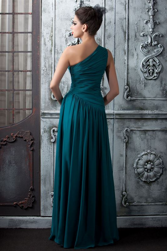 Charming A-Line Floor-Length One-Shoulder Taline's Prom/Bridesmaid Dress