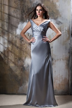 Luxurious A-Line V-Neck Floor-Length Luba's Bridesmaid Dress