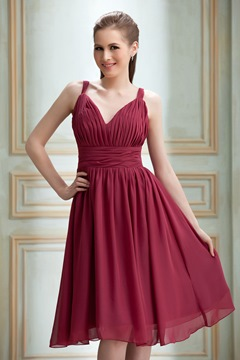 Elegant A-Line V-Neck Knee-Length Nadya's Prom Dress