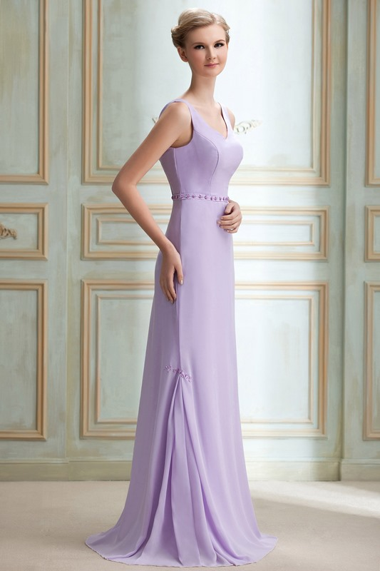 Charming Sequins Trumpet/Mermaid V-Neck Floor-Length Yana's Bridesmaid Dress for Brides