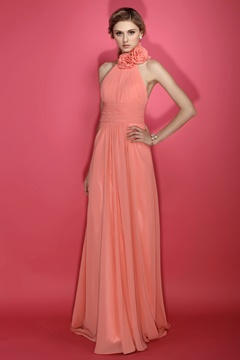 Discount A-Line Halter Sleeveless Floor-length Dasha's Bridesmaids Dress
