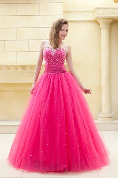 Fantastic Ball Gown Sweetheart Floor-Length Beading Ela's Prom/Ball Gown Dress