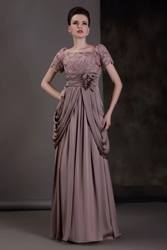 Fabulous Lace Empire Waist Scoop Neckline Floor-length Luba's Mother of the Bride Dress
