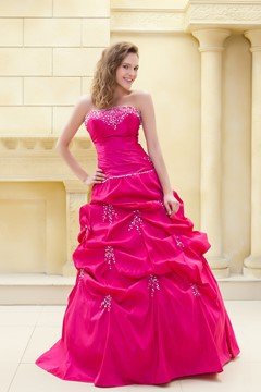 Glamorous A-line Strapeless Sweetheart Floor-length Ela's Ball Gown/Prom Dress
