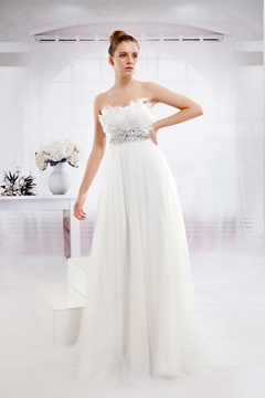 Fabulous Empire Floor-Length Sweetheart Tulle Wedding Dress