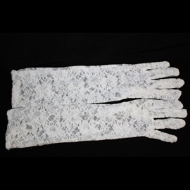Long Transparent Wedding Bridal Gloves