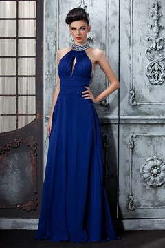 Ericdress Sexy A-Line Floor Length High-Neck Evening Dress
