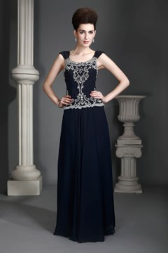 Attractive Lace A-Line Square-Neckline Floor-Length Alex's Mother of the Bride Dress