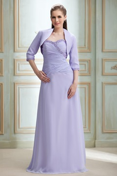 Elegant A-line Sweetheart Floor-length Nadya's Mother Dress With Jacket/Shawl