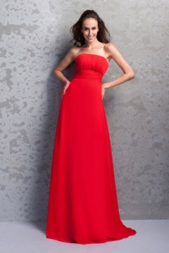 Pretty Renata's Strapless Empire Floor-Length Bridesmaid Dress
