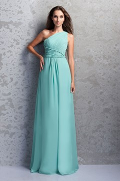 Incredible A-Line One-Shoulder Floor-Length Bridesmaid Dress