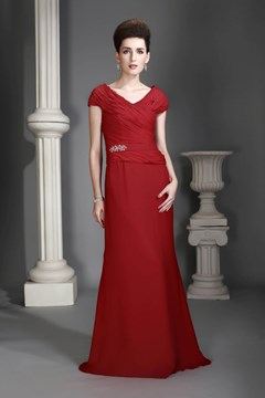 Fabulous Sheath/Column Off-the-Shoulder Floor-length Alex's Mother of the Bride Dress