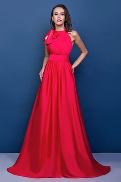 Ericdress A-line High Neck Sleeveless Court Train Renata's Evening Dress Inspired by Emma Stone at 84th OSCAR