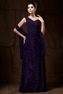 Charming Lace Pleats Sheath/Column V-Neck Floor-Length Taline's Mother of the Bride Dress With Jacket/Shawl