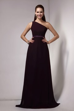 Attractive Sheath One-Shoulder Floor-length Sandra's Bridesmaid Dress