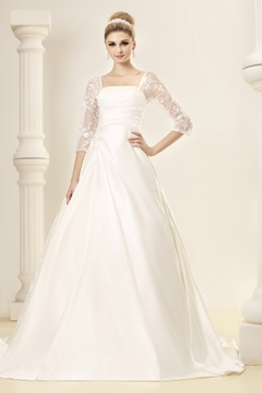 Elegant A-line Strapless Half-Sleeves Dasha's Wedding Dress