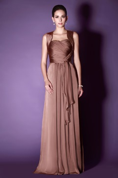 Vogueable Draped Halter Floor-Length Taline's Bridesmaid Dress