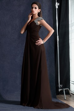 Classic Sequined A-line V-neck Floor-length Taline's Evening Dress