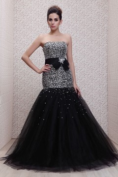 Ericdress Beading Mermaid/Trumpet Strapless Long Taline's Evening Dress