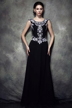 Fabulous A-Line Beteau Floor-length Polina's Mother of the Bride Dress