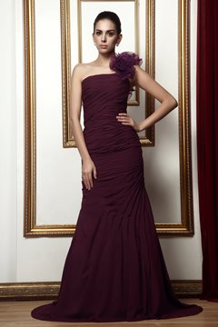 Ruched Mermaid One-Shoulder Floor-Length Taline's Mother Dress