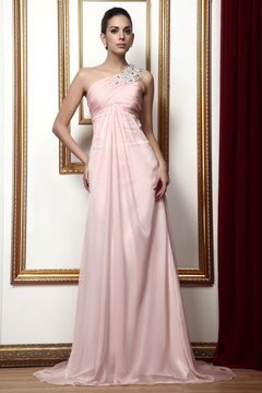 Graceful Draped Beading A-Line One-Shoulder Floor-Length Taline's Mother of Bride Dress