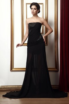 Concise A-Line Strapless Floor-Length Taline's Mother Dress