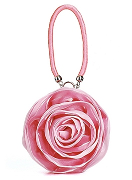 Sweet Big Satin Rose Handbag for Evening/Wedding(5colors)