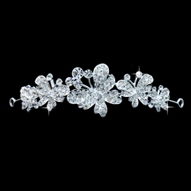 Butterfly Rhinestone Wedding Bridal Tiara