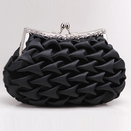 Exquisite Wave Folds Satin Handbag for Evening/Wedding(7colors)