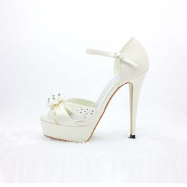 Elegant Platform Peep Toe Stiletto Heels Prom/Evening Shoes