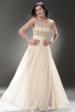 Pretty A-Line Floor-Length Zipper Up Straps Neckline Prom/Event Dress