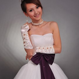 Exquisites Hollow Fingerless Wedding Bridal Glove