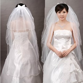 Beautiful Tiered Fingertip Wedding Veil