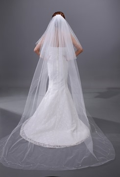 Charming Two Layers Chapel Wedding Bridal Veil