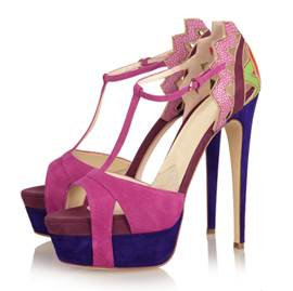 Glamorous Natural Kidsuede Stiletto Heels Pink Women Shoes