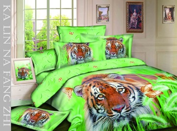Fashionable Style 4 Piece Tigers Print Bedding Sets